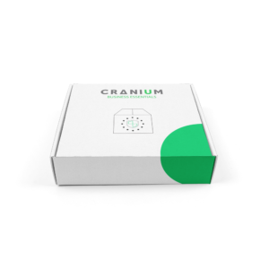 White carton box with CRANIUM business essentials logo