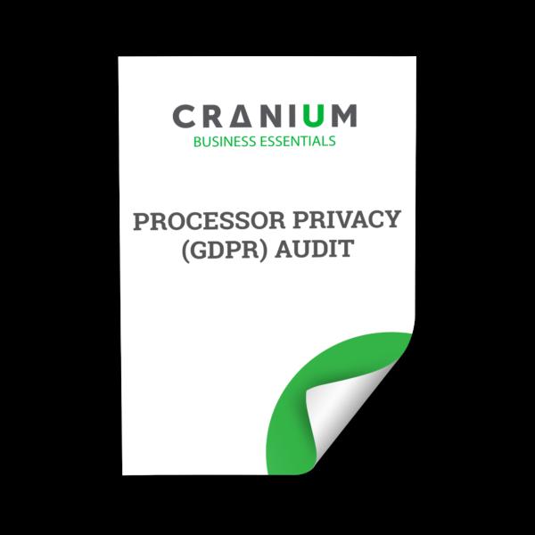 White and green CRANIUM Business Essentials Processor Privacy (GDPR) Audit document